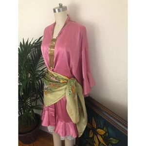 Victoria Secret-Satin Flounce-Sleeve Kimono